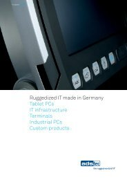 Ruggedized IT made in Germany Tablet PCs IT infrastructure - ads-tec