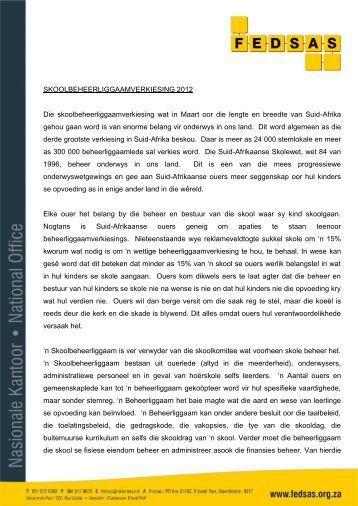 Laai af - Federasie van Beheerliggame van Suid- Afrikaanse Skole