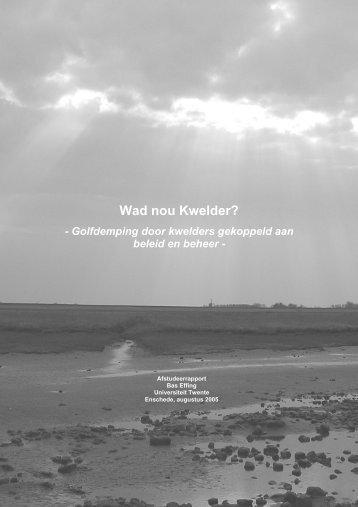 Wad nou Kwelder? - Universiteit Twente