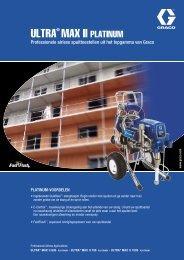 Leaflet ULTRA® MAX II PLATINUM, Professionele airless ... - Graco