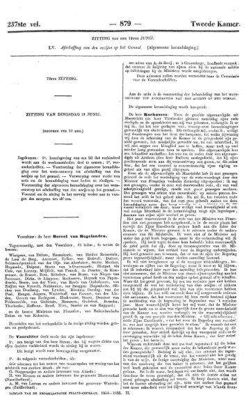 237ste vel. 879 — Tweede Kamer.