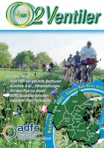 EN Sonntags - Tagestouren und Abendrad- touren 2010 - beim ADFC