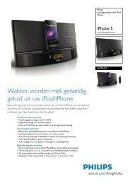 AJ7045D/12 Philips dockingsysteem voor iPod/iPhone