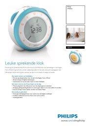 AJ310/12 Philips Wekker