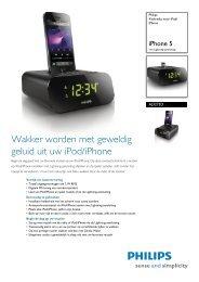 AJ3275D/12 Philips Klokradio voor iPod/iPhone