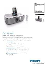 DC290/12 Philips dockingsysteem voor iPod/iPhone
