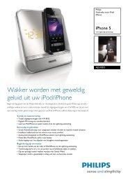 AJ5305D/12 Philips Klokradio voor iPod/iPhone