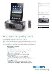 DC295/12 Philips dockingsysteem voor iPod/iPhone