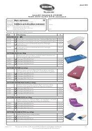 7.21-7.22 Matrassen Softform prijslijst januari 2013.pdf - Invacare