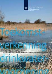 Toekomstverkenning drinkwatervoorziening in Nederland - Rivm