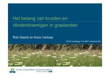 Het belang van kruiden en vlinderbloemigen in graslanden - NVWV