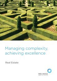 Managing complexity, achieving excellence - RBC Investor Services