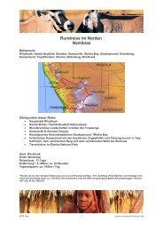 Nördliches Namibia (13 Tage; Unterkünfte: Classic / Comfort)