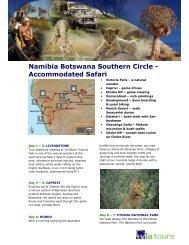 Namibia Botswana Southern Circle - Accommodated Safari