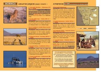 moringa - circuit en lodge de 11 jours / 10 nuits ... - Namikala Safaris