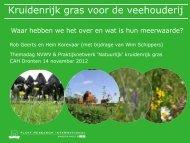 Kruidenrijk gras voor de veehouderij - Verantwoorde Veehouderij