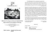 Baltic Academy – Akademie im Ostseeraum ... - Academia Baltica