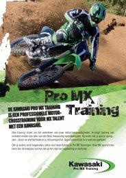 de kawasaki pro mx training is een professionele motor