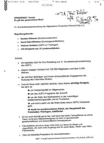 Rede Machnig BHV_2.November 2010 - ADFC Landesverband ...