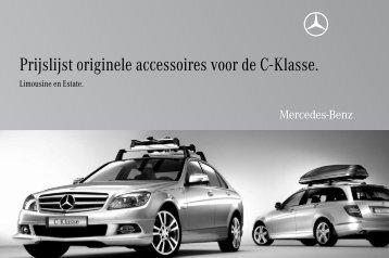 Prijslijst originele accessoires voor de C-Klasse. - Mercedes-Benz