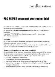 FDG PET/CT-scan met contrastmiddel (inlegvel) - UMC St Radboud