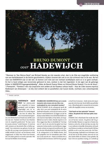 [PDF] Bruno Dumont over Hadewijch - Filmmagie