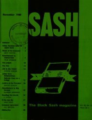 Sash Volume 22 Number 3 November 1980 - DISA