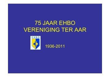 presentatie 75 jaar EHBO vereniging - ehbo vereniging ter aar