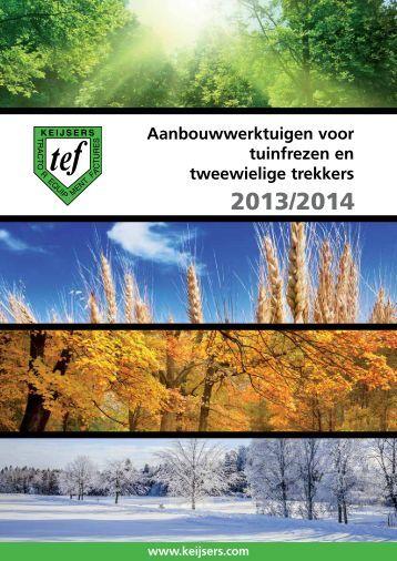 Catalogus aanbouwwerktuigen 2013-2014 - Keijsers TEF