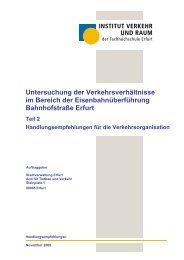 Untersuchung der Verkehrsverhältnisse im Bereich der - ADFC Erfurt