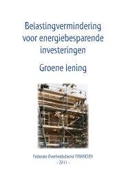 Groene lening - Federale Overheidsdienst Financiën