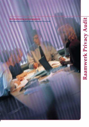 Raamwerk Privacy Audit - College bescherming persoonsgegevens