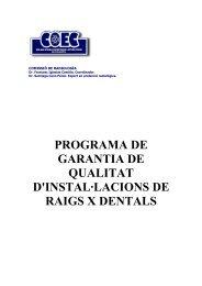 Programa de garantia i qualitat