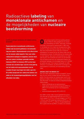 Radioactieve labeling van monoklonale antilichamen en de ...