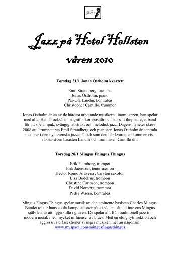 Jazz på Hotel Hellsten våren 2010