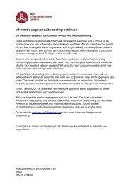toestemmings formulier - Gezondheidscentrum Lunetten