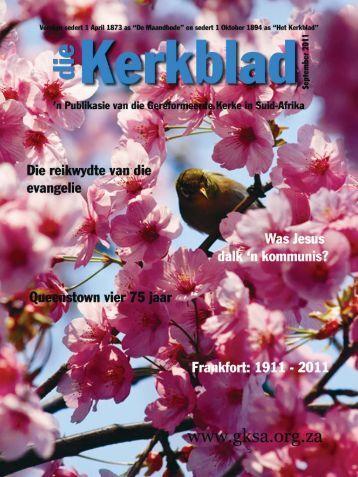 Die Kerkblad September 2011.indd - CJBF