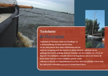 Yachtcharter - De Visserman Jachtverhuur