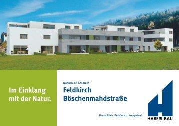 Im Einklang mit der Natur. Feldkirch Böschenmahdstraße