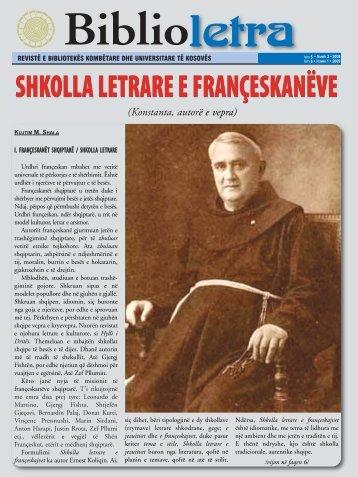 shkolla letrare e françeskanëve - Biblioteka Kombëtare dhe ...