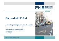 Auswertung der Regelwerke zum Radverkehr - ADFC Erfurt