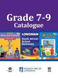 Grade 7 to 9 Catalogue 2011.indd - Maskew Miller Longman