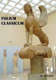 FOLIUM CLASSICUM 70 / 12.9.2006 (pdf, 460 kt) - Helsinki.fi