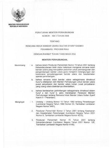 Rencana Induk Bandar Udara Sultan Syarif Kasim II Pekanbaru ...