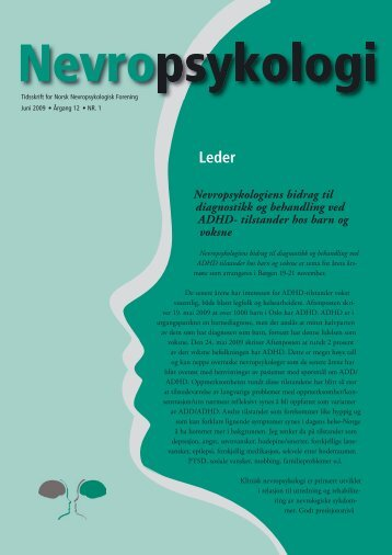 Nevropsykologi nr 1 - Norsk Psykologforening