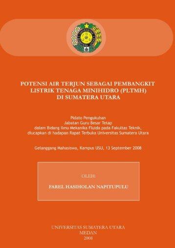 Prof. Dr. Ir. Farel Hasiholan Napitupulu, DEA - Universitas Sumatera ...