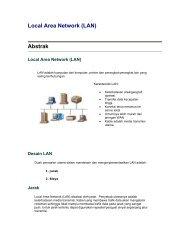 Local Area Network (LAN) Abstrak