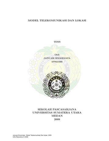 model telekomunikasi dan lokasi sekolah pascasarjana universitas ...
