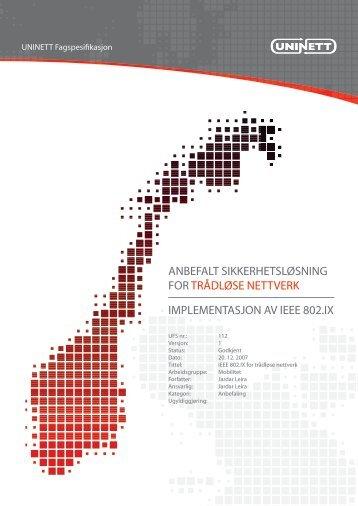 anbefalt sikkerhetsløsning for trådløse nettverk - Uninett