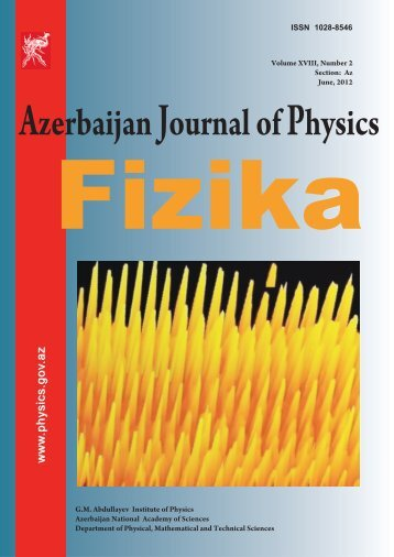 Azerbaijan Journal of Physics - Institute of Physics